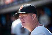 San Francisco Giants starting pitcher Matt Cain (18) watches from the dugout during a game against the San Diego Padres at AT&T Park in San Francisco, Calif., on September 14, 2016. (Stan Olszewski/Special to S.F. Examiner)