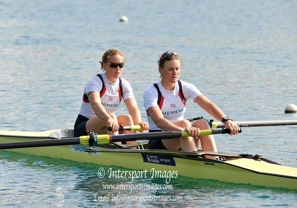 Caversham, Great Britain.  GBR W2-, Bow Helen GLOVER and Heather STANNING. 2012 GB Rowing World Cup Team Announcement Wednesday  04/04/2012  [Mandatory Credit; /Intersport-images]