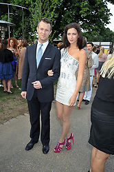 MARGOT STILLEY and NICK SAUNDERS at the annual Serpentine Gallery Summer Party sponsored by Canvas TV  the new global arts TV network, held at the Serpentine Gallery, Kensington Gardens, London on 9th July 2009.