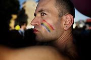 Ventesima edizione del Roma Pride, Roma 07 Giugno 2014.  Christian Mantuano / OneShot<br /> <br /> Twentieth edition of the Gay Pride parade in Rome, Rome, June 7, 2014. Christian Mantuano / OneShot