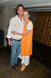 HENRY WARHURST and TAMARA DRAX at the launch of Geisha at Ramusake hosted by Piers Adam and Marc Burton at Ramusake, 92B Old Brompton Road, London on 11th June 2015.