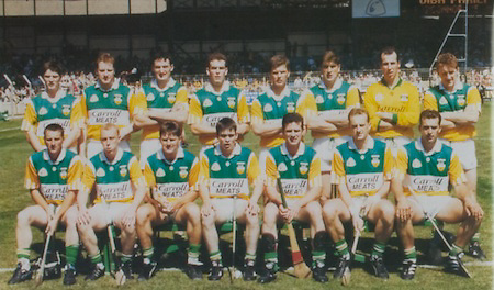All Ireland Senior Hurling Championship - Final, .03.09.1995, 09.03.1995, 3rd September 1995, .03091995AISHCF, .Senior Clare v Offaly,.Minor Kilkenny v Cork,.Clare 1-13, Offaly 2-8, ..Offaly, David Hughes, St Rynagh's, Shane McGuckin, St Rynagh's, Kevin Kinahan, Martin Hanamy, St Rynagh's, Brian Whelehan, Birr, Hubert Rigney, St Rynagh's, Kevin Martin, Tullamore, Johnny Pilkington, Birr, Daithi Regan, Birr, Johnny Dooley, Seir Kieran, John Troy, Lusmagh, Michael Duignan, St Rynagh's, Billy Dooley, Seir Kieran, Pat O'Connor, Joe Dooley, .Subs, Jim Troy, Brendan Kelly, Declan Pilkington, PJ Martin Gary Cahill, Joe Errity, John Miller, Brian Hennessy, Paudie Mulhare,