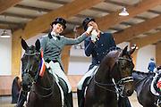 Danielle van Mierlo - Custom Zadels Dayano, Geert Jan Raateland - Don Bravour<br /> KNHS Indoorkampioenschappen 2017<br /> © DigiShots