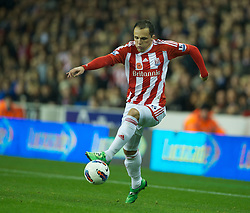 STOKE-ON-TRENT, ENGLAND - Monday, October 31, 2011: Stoke City's Matthew Etherington in action against Newcastle United during the Premiership match at the Britannia Stadium. (Pic by David Rawcliffe/Propaganda)