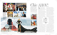 Double page spread in the Mail on Sunday's You Magazine following a very successful, inaugural Transatlantic Fashion Week on board Cunard's Queen Mary 2.