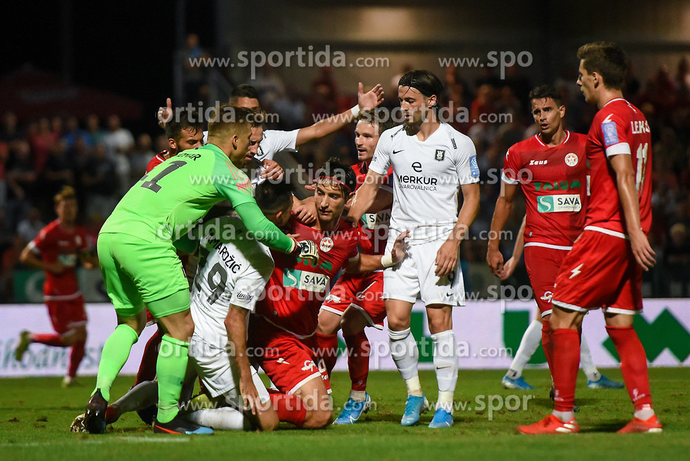 Football match between NK Aluminij and NK Olimpija in 6st Round of Prva liga Telekom Slovenije 2019/20, on August 18, 2019 in Sportni park NK Aluminij, Kidricevo, Slovenia. Photo by Milos Vujinovic / Sportida
