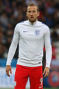 England Forward Harry Kane warm up during the Euro 2016 Group B match between Slovakia and England at Stade Geoffroy Guichard, Saint-Etienne, France on 20 June 2016. Photo by Phil Duncan.