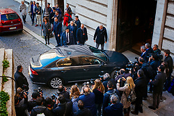 Silvio Berlusconi (in the car) arrives to the Italian Parliament to meet his party's deputies. Rome 14 March 2018. Christian Mantuano / OneShot