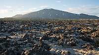 Drangahraun and Snæfellsjökull glacier. West Iceland.