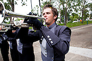 The Oregon Marching Band competes in Edmonton, Alberta on July 11, 2011.