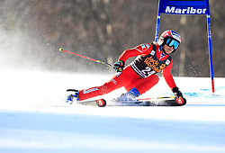 21.02.2015, Pohorje, Maribor, SLO, FIS Weltcup Ski Alpin, Maribor, Riesenslalom, Damen, 1. Lauf, im Bild Manuela Moelgg (ITA) // Manuela Moelgg of Italy during the 1st run of ladie's Giant Slalom of the Maribor FIS Ski Alpine World Cup at the Pohorje in Maribor, Slovenia on 2015/02/21. EXPA Pictures © 2015, PhotoCredit: EXPA/ Erwin Scheriau
