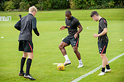 Uche Ikpeazu(#19) of Heart of Midlothian during training at the Oriam Sports Performance Centre, Edinburgh on 13 September 2018, ahead of the away match against Motherwell.
