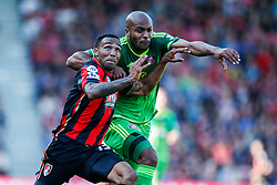 Bournemouth's Callum Wilson under pressure from Sunderland's Younes Kaboul - Mandatory by-line: Jason Brown/JMP - Mobile 07966 386802 19/09/2015 - SPORT - FOOTBALL - Bournemouth, Vitality Stadium - AFC Bournemouth v Sunderland - Barclays Premier League