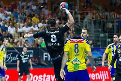 Senjamin Buric #8 of RK Gorenje Velenje during handball match between RK Celje Pivovarna Lasko vs RK Gorenje Velenje of Super Cup 2015, on August 29, 2015 in SRC Marina, Portoroz / Portorose, Slovenia. Photo by Urban Urbanc / Sportida