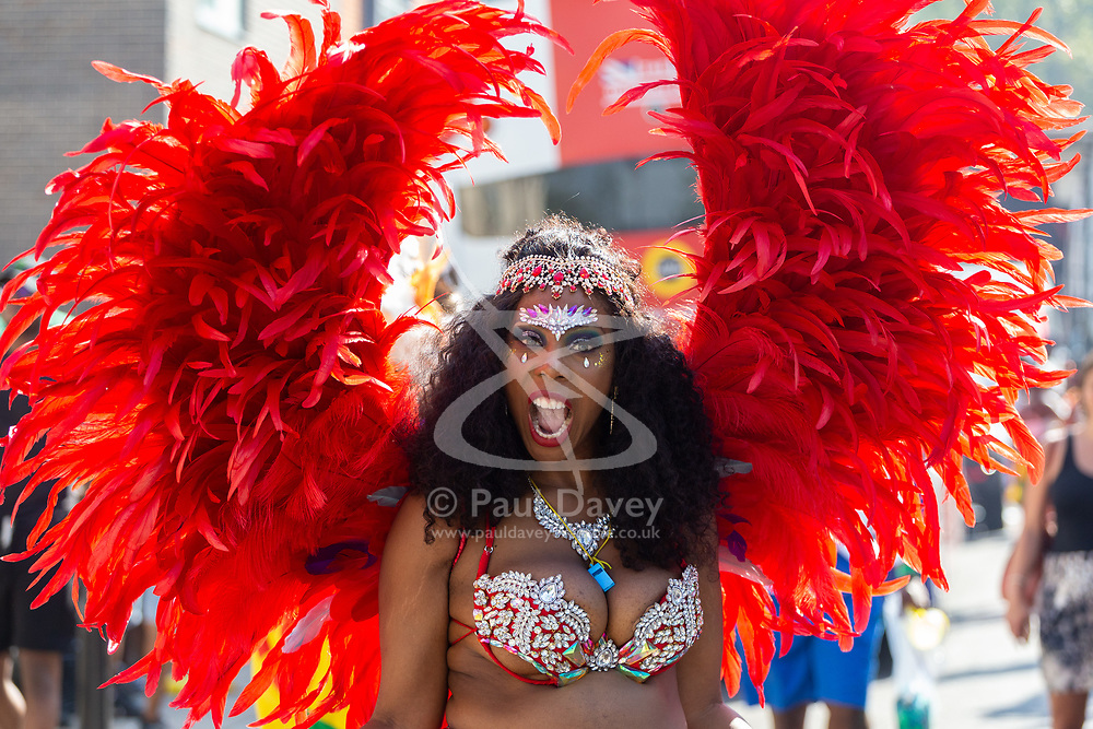 Day two of the Notting Hill Carnival in West London gets underway, as performers prepare to join their floats for the procession in what is known as Europe's biggest Street Party. London, August 26 2019.