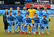 New York City Football Club before an MLS soccer match against DC United at Yankee Stadium in New York, NY, Sunday, March 10, 2019. (Bennett Cohen/image of Sport)