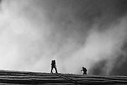 Hamish Berkett , Steele Taylor.  Craigieburn Range, New Zealand . Photo Joe Harrison