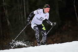 GORBOUNOVA Margarita Guide:  BUNDON Andrea, CAN at the 2014 IPC Nordic Skiing World Cup Finals - Long Distance