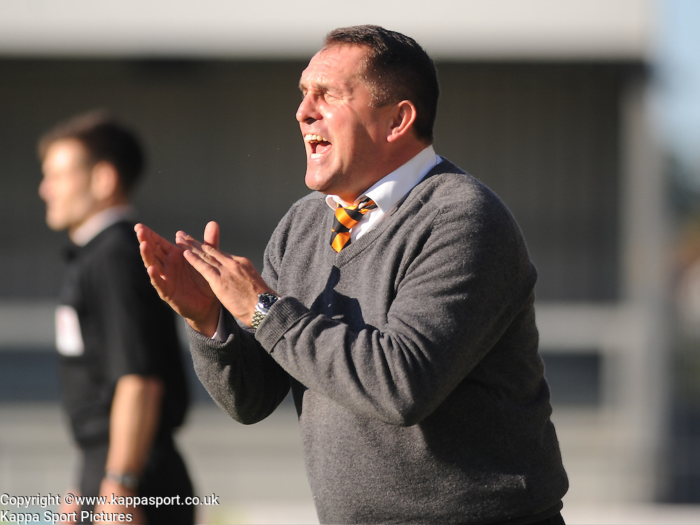 Martin Allen, Manager Barnet FC, Barnet v Eastleigh, Vanarama Conference, Saturday 4th October 2014