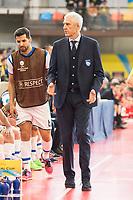 Pescara's coach Fulvio Colini during UEFA Futsal Cup 2015/2016 3º/4º place match. April 22,2016. (ALTERPHOTOS/Acero)