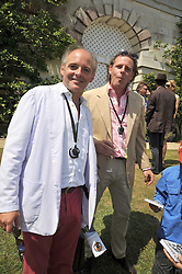 Left to right, LUDOVIC LINDSAY and JAMES LINDSAY at a luncheon hosted by Cartier for their sponsorship of the Style et Luxe part of the Goodwood Festival of Speed at Goodwood House, West Sussex on 5th July 2009.