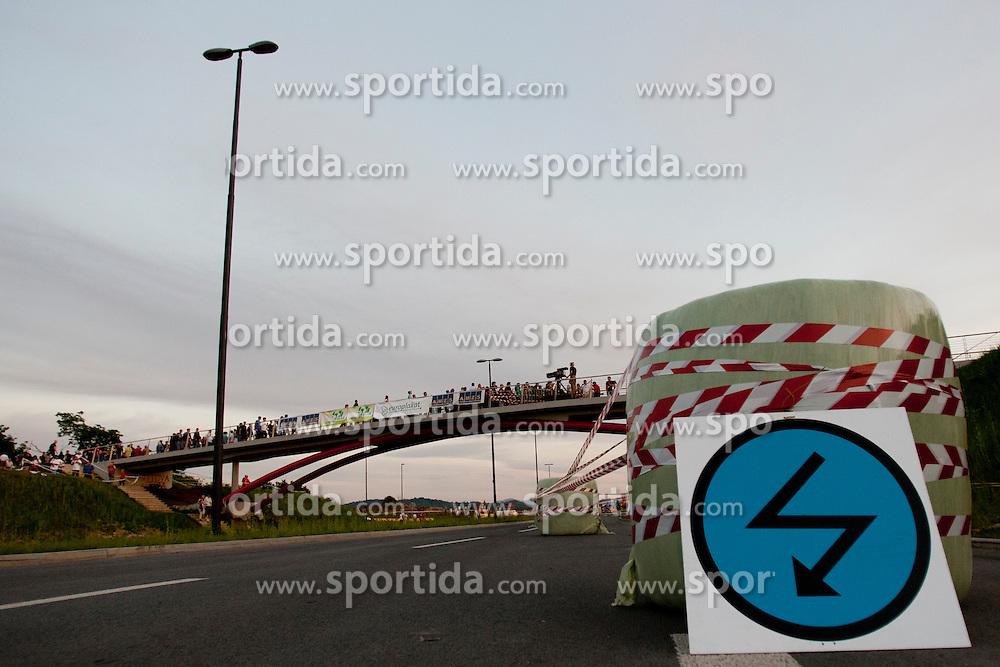 Danger zone during 35th Rally Saturnus, on May 11, 2012, in SRC Stozice, Ljubljana, Slovenia. (Photo by Urban Urbanc / Sportida)