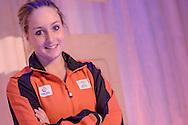 02-06-2015: Nieuws: Presentatie selectie Europese Spelen: Papendal<br /> <br /> (L-R) Turnster C&eacute;line van Gerner<br /> <br /> European Games Team NL bestaat tijdens de eerste editie van het evenement in Baku uit 120 topsporters. Zij komen in totaal uit in zeventien sporten en nemen deel aan 24 disciplines. Chef de mission is Jeroen Bijl<br /> <br /> NOVUM COPYRIGHT / ORANGE PICTURES / GERTJAN KOOIJ
