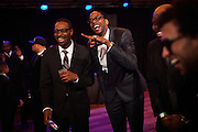 Hip-hop recording artist 2 Chainz jokes with friends at the Hip-Hop Inaugural Ball, January 20, 2013 in Washington, DC.