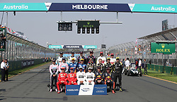 MELBOURNE, March 17, 2019  Drivers pose for group photos before Formula 1 Australian Grand Prix 2019 at the Albert Park in Melbourne, Australia, March 17, 2019. (Credit Image: © Bai Xuefei/Xinhua via ZUMA Wire)