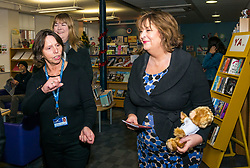 Pictured: Scottish Government Public Libraries Funding Announcement. Culture Minister Fiona Hyslop announces this year's successful bids to the &pound;450,000 Public Library Improvement Fund (PLIF) at the John Grey Centre, Haddington Library, Haddington, East Lothian, Scotland, United Kingdom.  PLIF has been supporting innovative library projects since 2006 which help both individuals and communities. Fiona Hyslop talking to Trina Gavan, Area Librarian. 13 December 2018  <br /> <br /> Sally Anderson | EdinburghElitemedia.co.uk