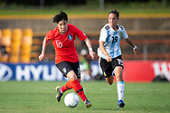 SYDNEY, NSW - FEBRUARY 28: Korean player Geummin Lee (10) controls the ball at The Cup of Nations womens soccer match between Argentina and Korea Republic on February 28, 2019 at Leichhardt Oval, NSW. (Photo by Speed Media/Icon Sportswire)