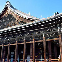 Founder's Hall at Nishi Honganji in Kyoto, Japan <br />