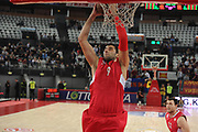 DESCRIZIONE : Roma Eurolega 2010-11 Lottomatica Virtus Roma Olympiacos Pireo Atene<br /> GIOCATORE : Ioannis Bourousis<br /> SQUADRA : Olympiacos Pireo Atene<br /> EVENTO : Eurolega 2010-2011<br /> GARA :  Lottomatica Virtus Roma Olympiacos Pireo Atene<br /> DATA : 17/11/2010<br /> CATEGORIA : rimbalzo<br /> SPORT : Pallacanestro <br /> AUTORE : Agenzia Ciamillo-Castoria/GiulioCiamillo<br /> Galleria : Eurolega 2010-2011<br /> Fotonotizia : Roma Eurolega Euroleague 2010-11 Lottomatica Virtus Roma Olympiacos Pireo Atene<br /> Predefinita :