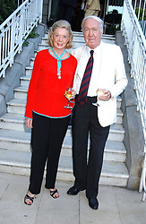 ANDREW & SONIA SINCLAIR at a party hosted by Andrew neil and The Business Newspaper held at The Ritz, Piccadilly, London on 12th July 2005.<br />