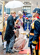 THE HAGUE - Queen Maxima and Willem-Alexander King arrive at the Knights on Budget Day prior to the throne speech. Every third Tuesday of September is Budget Day, the festive opening of the new parliamentary year of the States General (the Senate and House). His Majesty the King on Budget Day rides in the Golden Carriage to the Binnenhof in The Hague speaks during the joint session of the States General in the Knights from the throne speech. COPYRIGHT ROBIN UTRECHT