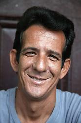 Portrait of smiling white Cuban man,