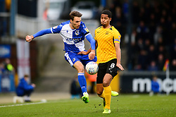 Alex Rodman of Bristol Rovers is closed down by Timothee Dieng of Southend United - Mandatory by-line: Dougie Allward/JMP - 07/12/2019 - RUGBY - Ashton Gate - Bristol, England - Bristol Bears v London Irish - Gallagher Premiership Rugby