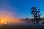 Ground fog on a spring evening