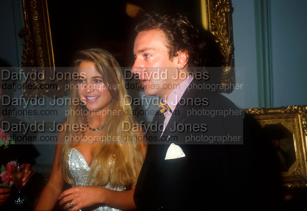 Bride and groom. Marriage of Earl Jermyn later Marquis of Bristol)  to Francesca Fisher, Wedding Ball, Ickworth. 1984. © Copyright Photograph by Dafydd Jones 66 Stockwell Park Rd. London SW9 0DA Tel 020 7733 0108 www.dafjones.com