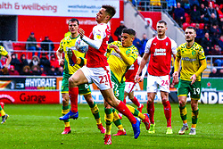 Jerry Yates of Rotherham United controls the ball with his chest - Mandatory by-line: Ryan Crockett/JMP - 16/03/2019 - FOOTBALL - Aesseal New York Stadium - Rotherham, England - Rotherham United v Norwich City - Sky Bet Championship