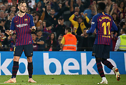 October 20, 2018 - Barcelona, Catalonia, Spain - Ivan Rakitic celebration during the match between FC Barcelona and Sevilla CF, corresponding to the week 9 of the Liga Santander, played at the Camp Nou, on 20th October 2018, in Barcelona, Spain. (Credit Image: © Joan Valls/NurPhoto via ZUMA Press)