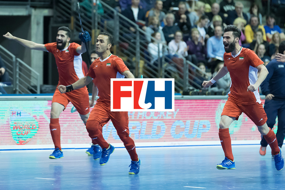 Hockey, Seizoen 2017-2018, 09-02-2018, Berlijn,  Max-Schmelling Halle, WK Zaalhockey 2018 MEN, Iran - Czech Republic 2-2 Iran Wins after shoutouts, Iran reach the semi finals