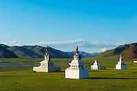 Mongolie, Province de Bayankhongor, monastere de Panchinkhorloo // Mongolia, Bayankhongor province, Panchinkhorloo monastery