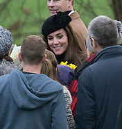 Kate and Royals Attend Church at Sandringham
