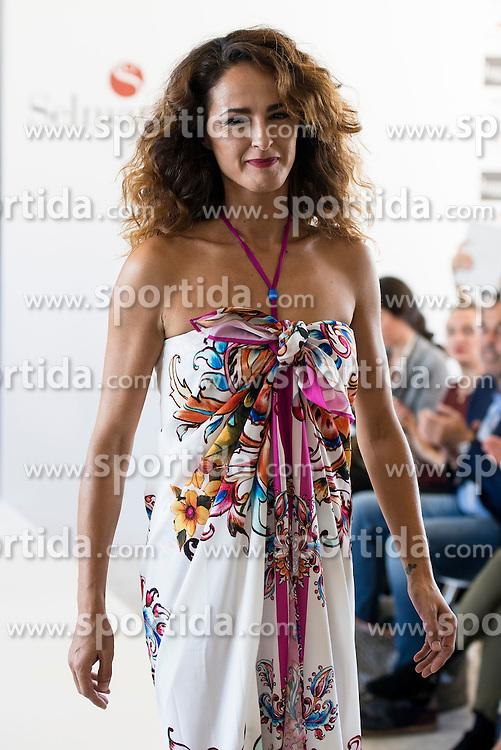 15.10.2015, Circulo de Bellas Artes, Madrid, ESP, Senmark Jubil&auml;ums Fashion Show, im Bild Monica Estarreado // during the Senmark 40th. Aniversary Fashion Show at the Circulo de Bellas Artes in Madrid, Spain on 2015/10/15. EXPA Pictures &copy; 2015, PhotoCredit: EXPA/ Alterphotos/ BorjaB.hojas<br /> <br /> *****ATTENTION - OUT of ESP, SUI*****