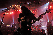 Tom Araya of the band Slayer performs at the Roseland Ballroom November 11, 2004 in New York City. .Photo by Keith Bedford