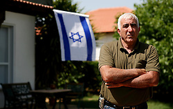 SifSufa - May 5th,  2008 - Yakov Dahan 56 an israeli outside his home in  Sifsufa,Northern Israel 10KM from the Lebanese border, May 5th, 2008. Picture by Andrew Parsons / i-Images
