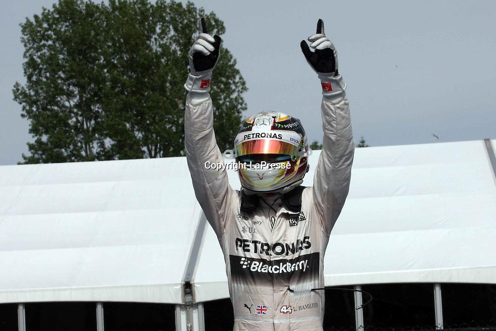 &copy; Photo4 / LaPresse<br /> 07/06/2015 Montreal, Canada<br /> Sport <br /> Grand Prix Formula One Canada 2015<br /> In the pic: race winner Lewis Hamilton (GBR) Mercedes AMG F1 W06