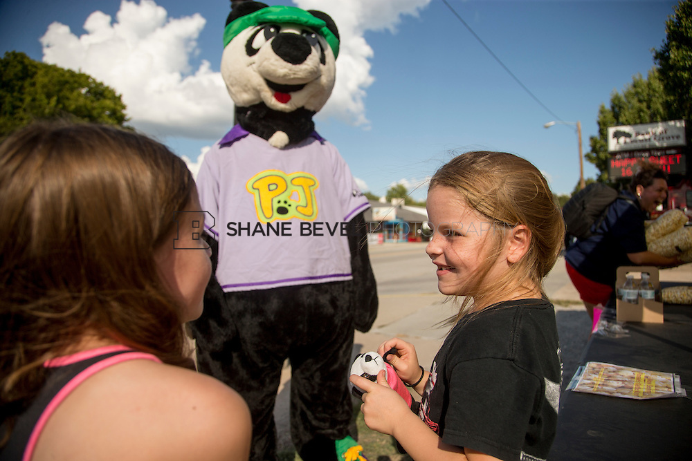 9/24/16 4:20:11 PM --  PJ Panda appears at a car show in Locust Grove for Children's Miracle Network. <br /> <br /> Photo by Shane Bevel