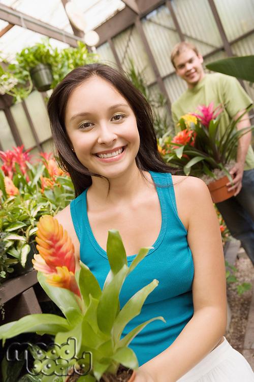 Gardeners in Greenhouse